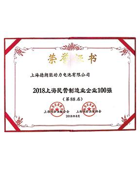 2018上海民营制造业企业100强第88名